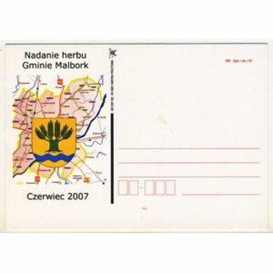 MALBORK HERB MAPKA KARTKA POCZTOWA A20163