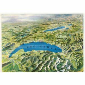 JEZIORO GENEWSKIE MAPKA WIDOKÓWKA A20439