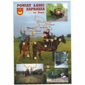 ŁASK POWIAT HERB MAPKA WIDOKÓWKA A20355