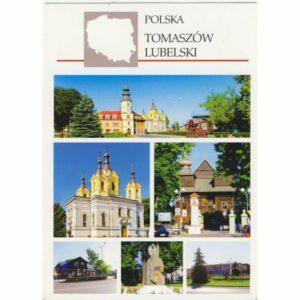 TOMASZÓW LUBELSKI MAPKA WIDOKÓWKA A29234