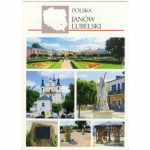 JANÓW LUBELSKI MAPKA WIDOKÓWKA A24407