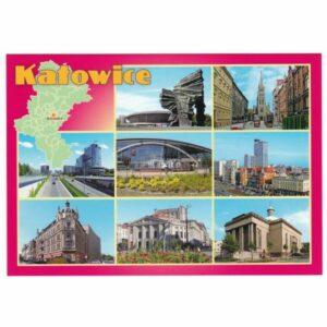 KATOWICE MAPKA WIDOKÓWKA 16P404