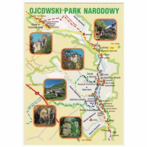 OJCOWSKI PARK NARODOWY MAPKA 16P416