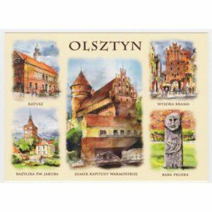 OLSZTYN AKWARELA WIDOKÓWKA CZ-OLSZ-04
