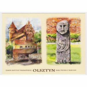 OLSZTYN AKWARELA WIDOKÓWKA CZ-OLSZ-06