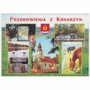 KONARZYNY HERB WIDOKÓWKA A28965