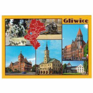 GLIWICE MAPKA WIDOKÓWKA 17P474