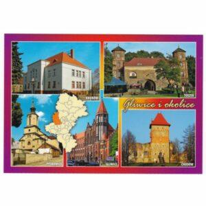 GLIWICE I OKOLICE MAPKA WIDOKÓWKA 17P479