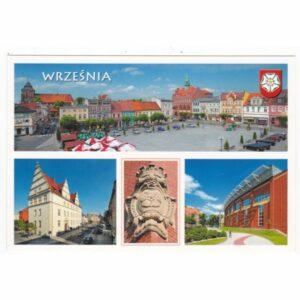 WRZEŚNIA HERB WIDOKÓWKA WR7476