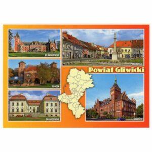 GLIWICE I OKOLICE MAPKA WIDOKÓWKA 17P477