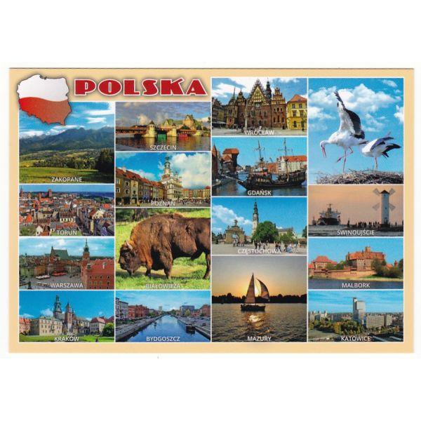 POLSKA MAPKA WIDOKÓWKA 17P499