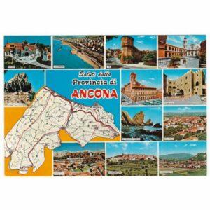 ANCONA I OKOLICE MAPKA WIDOKÓWKA A41623