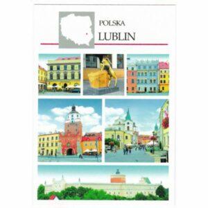 LUBLIN MAPKA WIDOKÓWKA A45425