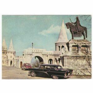 WĘGRY BUDAPEST STARY SAMOCHÓD WIDOKÓWKA A42912