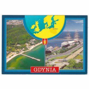 GDYNIA MAPKA WIDOKÓWKA A44359
