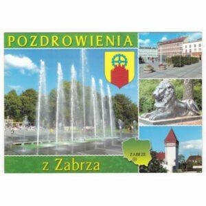ZABRZE MAPKA HERB WIDOKÓWKA WR7857