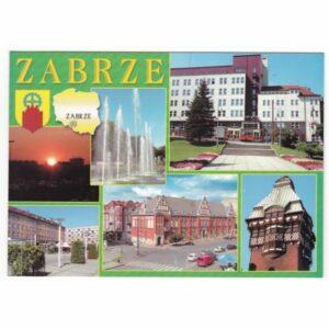 ZABRZE MAPKA HERB WIDOKÓWKA WR7858