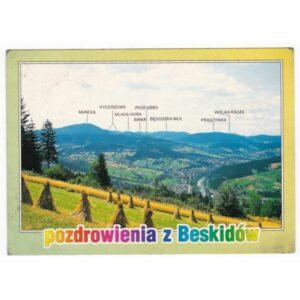 BESKIDY MAPKA WIDOKÓWKA A44484
