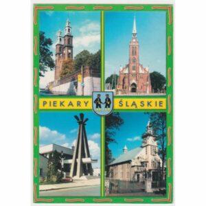 PIEKARY ŚLĄSKIE HERB WIDOKÓWKA A45454