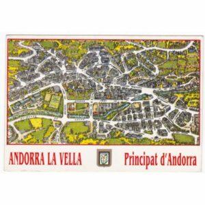 ANDORRA MAPKA WIDOKÓWKA A21692