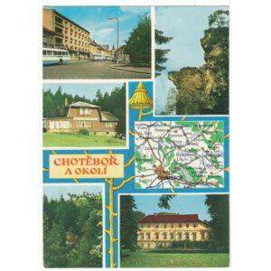 CZECHY CHOTEBOR MAPKA WIDOKÓWKA A46836