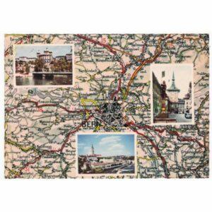 SZWAJCARIA BERN MAPKA WIDOKÓWKA A46845