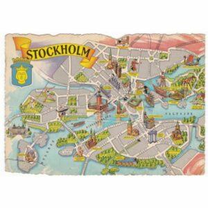 SZWECJA STOCKHOLM MAPKA WIDOKÓWKA A46848