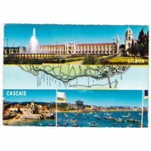 PORTUGALIA LIZBONA CASCAIS MAPKA POCZTÓWKA A47025