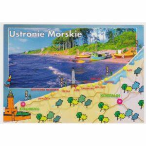 USTRONIE MORSKIE MAPKA LATARNIA WIDOKÓWKA A49183
