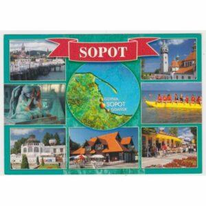 SOPOT MAPKA WIDOKÓWKA A49385
