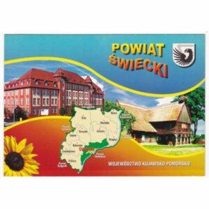 ŚWIECIE POWIAT MAPKA WIDOKÓWKA A49452