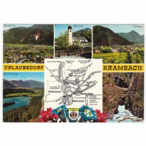 AUSTRIA KRAMSACH MAPKA WIDOKÓWKA A49803