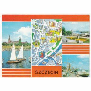 SZCZECIN MAPKA HERB WIDOKÓWKA A49810