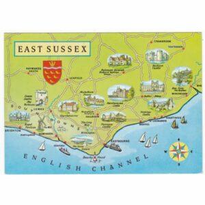 ANGLIA EAST SUSSEX MAPKA WIDOKÓWKA A49834