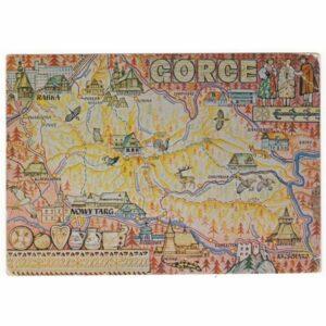 GORCE MAPKA WIDOKÓWKA A49854