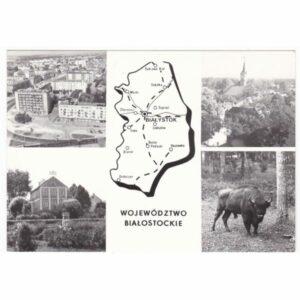 WOJEWÓDZTWO BIAŁOSTOCKIE MAPKA WIDOKÓWKA A50249