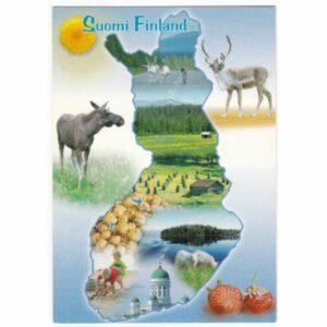 FINLANDIA MAPKA WIDOKÓWKA A51978
