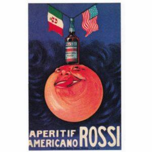 APERITIF AMERICANO ROSSI POCZTÓWKA REKLAMOWA REPRINT A53772
