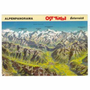 AUSTRIA ALPY TYROL MAPKA WIDOKÓWKA A54893