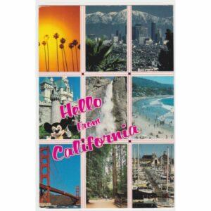 CALIFORNIA MYSZKA MIKI WALT DISNEY POCZTÓWKA A59508