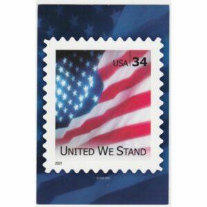 USA FLAGA ZNACZEK WIDOKÓWKA A60216