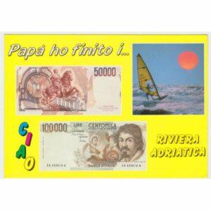 RIVIERA ADRIATICA LIRY BANKNOTY WIDOKÓWKA A62013
