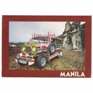 FILIPINY MANILA SAMOCHÓD WIDOKÓWKA A62188