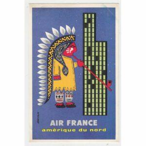 AIR FRANCE POCZTÓWKA REKLAMOWA REPRINT A62925
