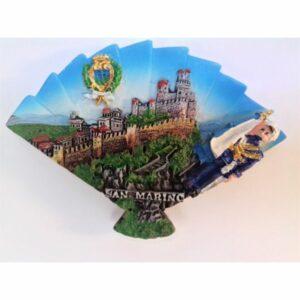MAGNES NA LODÓWKĘ San Marino zamek wachlarz herb (607)