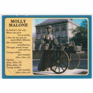 IRLANDIA DUBLIN POMNIK MOLLY MALONE WIDOKÓWKA A65328