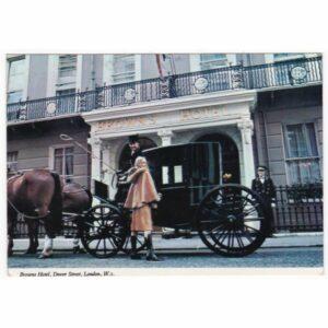 ANGLIA LONDYN BROWNS HOTEL POWÓZ KOŃ WIDOKÓWKA A65416
