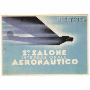 2 SALONE INTERNAZIONALE AERONAUTICO POCZTÓWKA REPRINT A65417