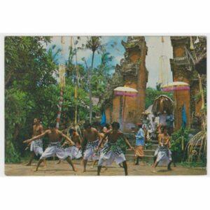 INDONEZJA BALI TANIEC STROJE TRADYCYJNE WIDOKÓWKA A66007