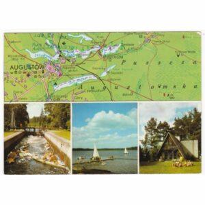AUGUSTÓW POJEZIERZE AUGUSTOWSKIE MAPKA WIDOKÓWKA A66378